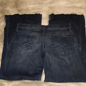 7 For All Mankind Ginger Trouser Flare Jeans 30